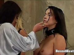 Innocent lesbian slaves humiliated