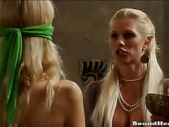 Big Titted Slave Gets Strapon