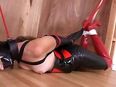 Tape Gagged & Bound in Latex