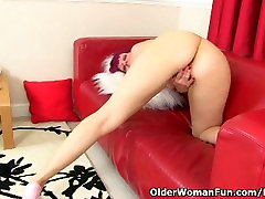 British milf Penny cant control her throbbing pussy