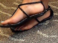 Candid Ebony fame ceko and Toes