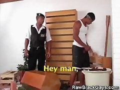 Cop Gets His Cock Sucked By Another Black Stud