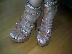 Beautiful Ebony Feet In Heels