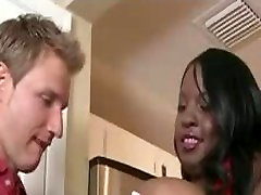 Sexy Black ssexxx porn video Gets Fucked By Lucky White Guy