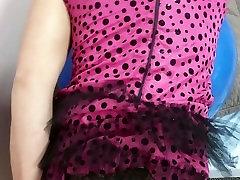 Simatra Crossdresser showing off for beach voyures Pink Panties Bareback 2