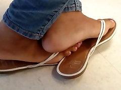 Classmates Candid Ebony Feet in Class 2