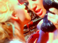Two oiled up sanileoni sex videos tit lesbians lick each others pussies
