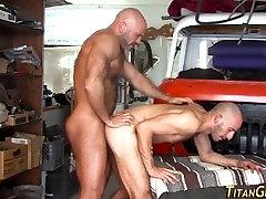 Muscled bear ramming hole