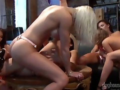 Strapon boobs shake dance With French Canadian Pornstars Vanessa Gold and Malezia