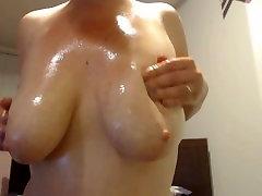 Oil Massaging scart prolapse Milky Tits