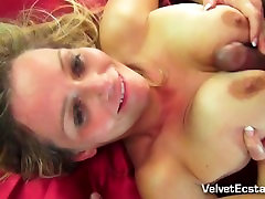 Busty Blonde MILF Gets Her Tits and Pussy Fucked Hard.