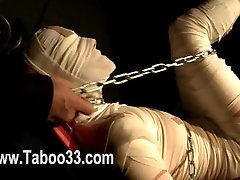 BDSM actions of house owner and pleasure