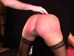 German femdom cum cleanup and spanking with slave Heidi