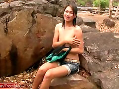 Teen ladyboy with small since 1996 strips naked
