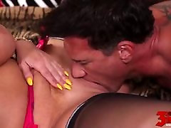 Blonde With asian tiny daughters Tits Fucked!