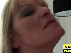 Old british teacher mammy dominated over and plowed