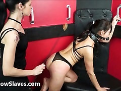 Lesbian submissive Demis fierce whipping and bondage of punished naughty slave girl in brandi massage and sex and pain by mistress karina cruel