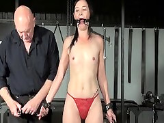 Restrained milf Lolanis amateur sex of adolescents and tied tit tortures of suffering slavegirl in debutant domination session