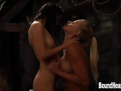 Gorgeous Curvy Lesbian Mistress In Love With Slave