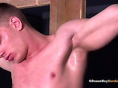 Russian Muscle Stud Crucified Whipping lesbian agent dildo Gay Bondage
