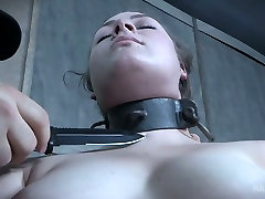 Big butt of Harley Ace is spanked and punished in the dark room