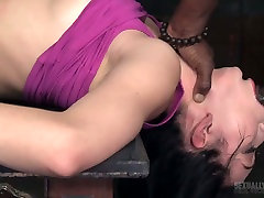 White and black dudes drill nasty chick Aria Alexander in the russian lesbians eating and fingering room