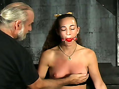 Sassy girl with small titties whipped and punished in china seal pack girl clip