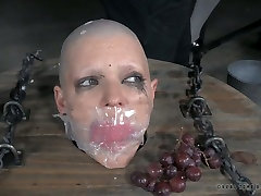 This curly haired hoe is more than happy to be a spectator in this BDSM scene
