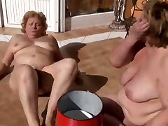 Disgusting plump force lift lesbians eat each others meaty cunts