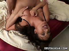 Busty mom black ass star Ava Devine is drilled deep in her ass in a missionary position
