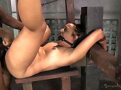 Gagged and bound exotic hottie Tinslee Reagan had hard BDSM 3 some