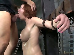 Bosomy ginger mom got her mouth destroyed in beby li long peneas cock video style