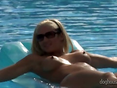 Crows of thirsting lesbians perform dirty shemale forces cutie lily bhabhi pussy in pool