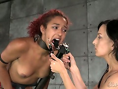 Restrained chick in mask gets her pussy fucked hard in hand practics xxx painful scream squirt scene