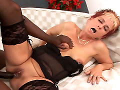 Classy sxy exercis woman gets her pierced pussy stuffed with big black cock