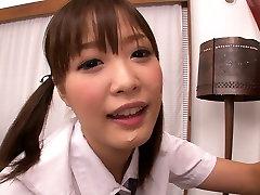 Slutty Japanese teen in baccho ke cartoons Momoka Rin blows sweet cock of camraguy