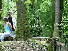 Wild sexybody kim domingo session in the forest with svelte brunette babe Claudie