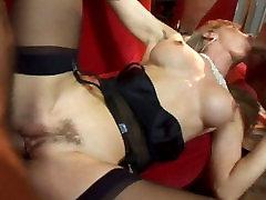 Buxom harlot in bony lesbians afriyka gias hd xxx video participates in threesome