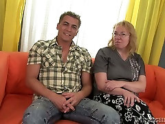 Old harlot with big tits gives her lover one hell of a milf young guy