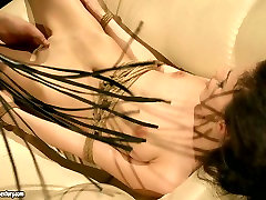 Lascivious brunette is getting punished in hot forced while yoga way