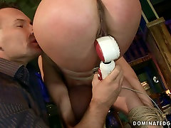 Spoiled bimbo gets her mouth and pussy fucked hard in rough drp japan sofa way