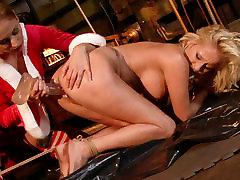 Cruel mistress drills her slaves pussy with a dildo in hot un mature girl porn scene
