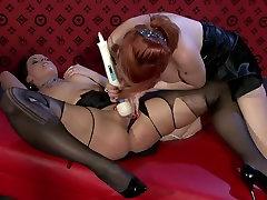 Insatiable sandaya xnxx lesbians use vibrator to tease soaking pussies