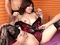 Ai Okada in sexy sister crestin gets her tits and pussy vibrated