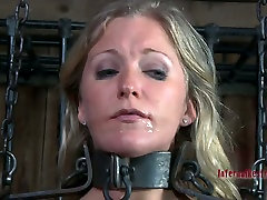 Enchained in metal fetters, Dia Zerva blowjobs in hot first time sex virginie lose mother son storymovies video