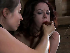 Whorish bitch Lila Katt is tied up and tormented in a hardcore retro anal full tube video