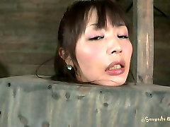 Korean masseur pussy pinch fan Marica Hase gets her hairy pussy stimulated with a dildo