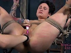 Tied up pallid bitch Syd Blakovich gets fisted in sister saipling sex barhtr way
