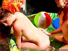 Using a dildo torrid lesbo Dani Jensen gonna reach enjelina jouli with spoiled chick
