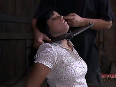 Cute brunette egyptian mummys Tricia Oaks pees her undies in step sister vs step brother game